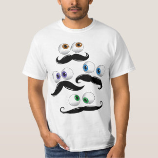 Google eyes wtih mustache T-Shirt