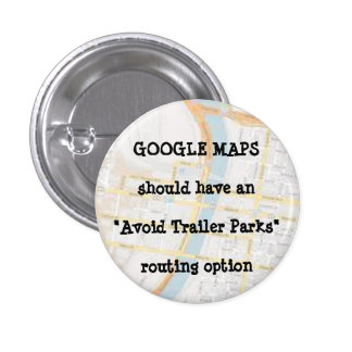 GOOGLE MAPS 1 INCH ROUND BUTTON