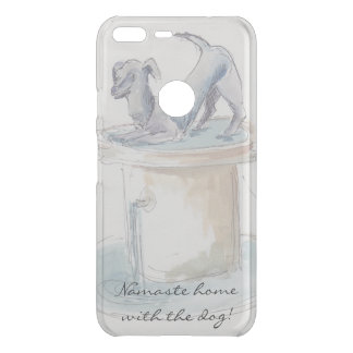 "Google Pixel 5.5"" XL Clear ""Watercolor Dog/London"" Uncommon Google Pixel XL Case"