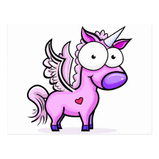 Googly_Eyed_Unicorn Postcard