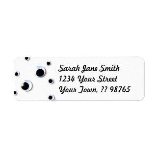 Googly Eyes Black and White Custom Return Address Label