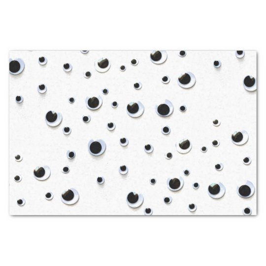 Googly Eyes Black and White Funny Cute Tissue Paper