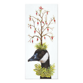 Goose and Finch Christmas flat card