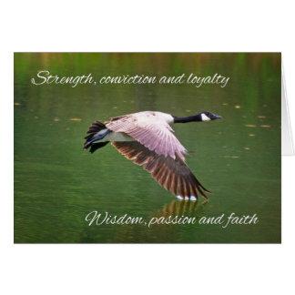 Goose Anniversary Card