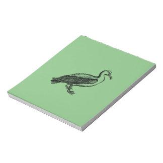 Goose Bird Collection Notepad