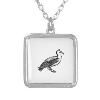 Goose Bird Collection Silver Plated Necklace
