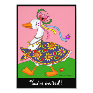 Goose Goes Out Ukrainian Folk Art Card