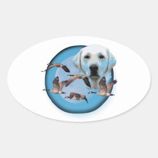 Goose hunter 3 oval sticker