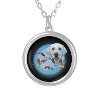 Goose hunter 3 silver plated necklace