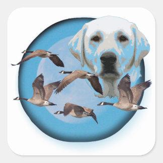 Goose hunter 3 square sticker