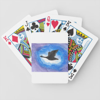 Goose In Flight Bicycle Playing Cards