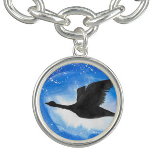 Goose In Flight Charm Bracelet