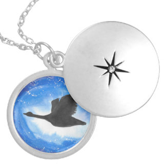 Goose In Flight Locket