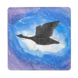 Goose In Flight Puzzle Coaster