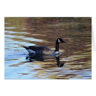 Goose on Pond Card