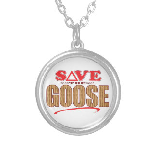 Goose Save Silver Plated Necklace
