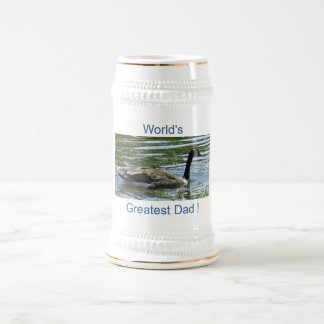 goose, World's Best Dad ! 18 Oz Beer Stein