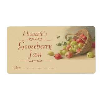 Gooseberry Canning label Shipping Label