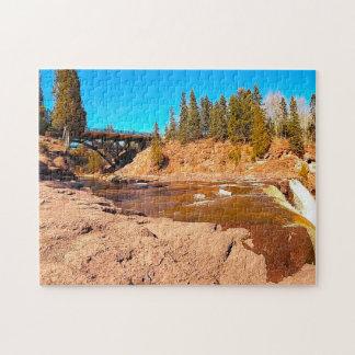 Gooseberry Falls Minnesota. Jigsaw Puzzle