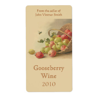 Gooseberry wine bottle label