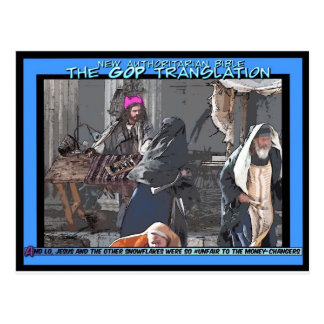 GOP and the Moneychangers Postcard