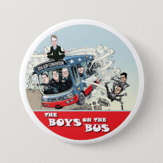GOP Bus 3 Inch Round Button