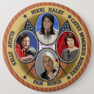 GOP Candidates for President 2016 6 Inch Round Button