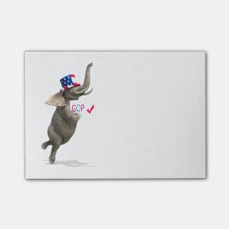 GOP Elephant Post-it Notes