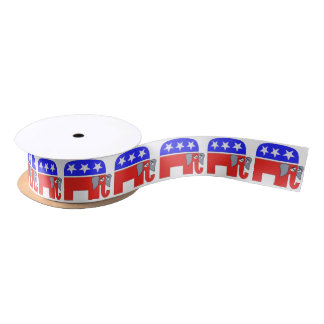 GOP Elephant Satin Ribbon