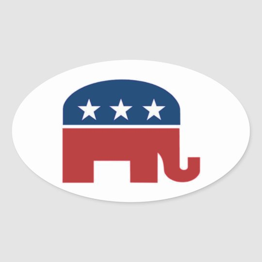 GOP elephant sticker