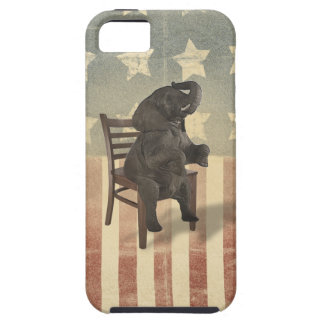 GOP Elephant Takes Over the Chair Funny Election iPhone 5 Cover
