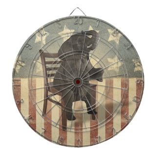 GOP Elephant Takes Over the Chair Funny Political Dart Boards
