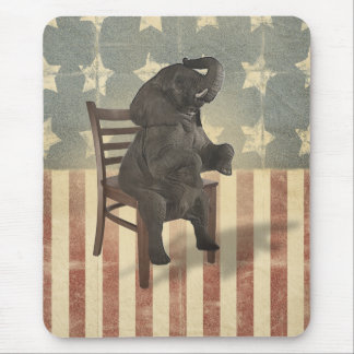 GOP Elephant Takes Over the Chair Funny Political Mouse Pad