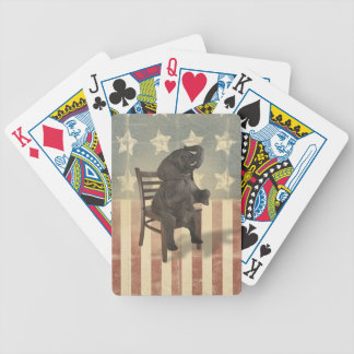 GOP Elephant Takes Over the Chair Funny Political Bicycle Playing Cards