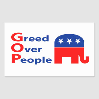 GOP - Greed Over People Sticker