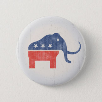GOP Mammoth Logo 2 Inch Round Button