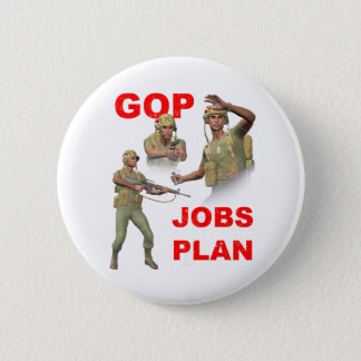 GOP, Republicans, Jobs Plan 2 Inch Round Button