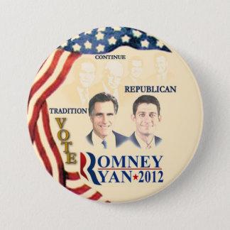GOP Tradition:Romney Ryan 3 Inch Round Button