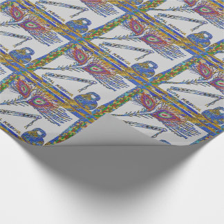 GOPAL KRISHNA HINDUISM FLUTE PEACOCK FEATHERS GIFT WRAPPING PAPER