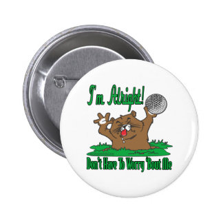 Gopher and the Golfball 2 Inch Round Button