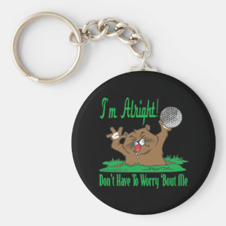 Gopher and the Golfball Basic Round Button Keychain