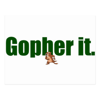 Gopher it. postcard