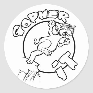 GOPHER IT stickers
