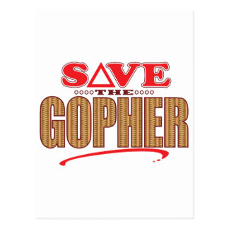 Gopher Save Postcard