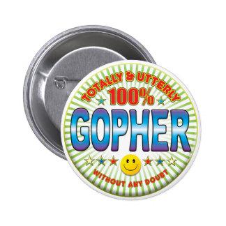 Gopher Totally 2 Inch Round Button