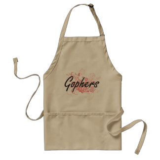 Gophers with flowers background standard apron