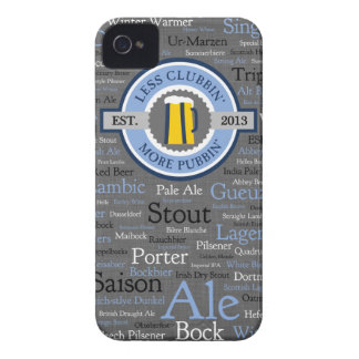 GoPubbin' Beer Styles iPhone 4 Case - Blue/Grey
