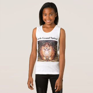Gordo Ground Squirrel Girl's Tank Top