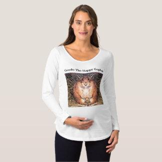 """Gordo"" Women's Long Sleeve Maternity Tee Shirt"