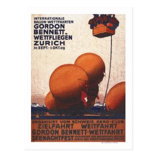 Gordon Bennett Hot-Air Balloon Race Poster Postcard